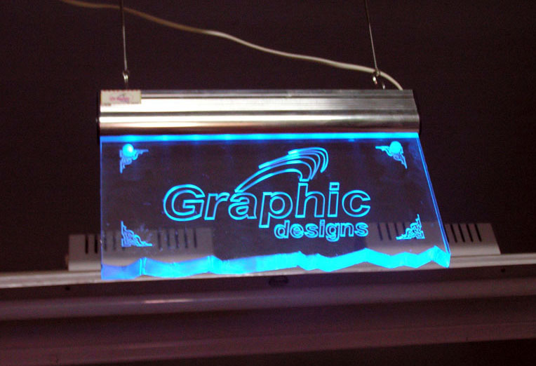 Edge Lit Led Sign Engraved Bespoke